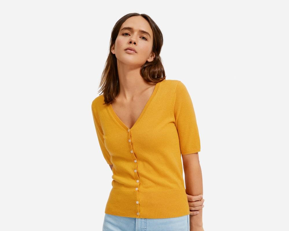 The Cotton–Merino Short Sleeve Cardigan – Everlane
