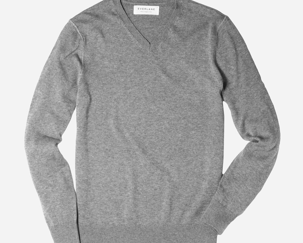 The Cotton Cashmere V Neck – Everlane