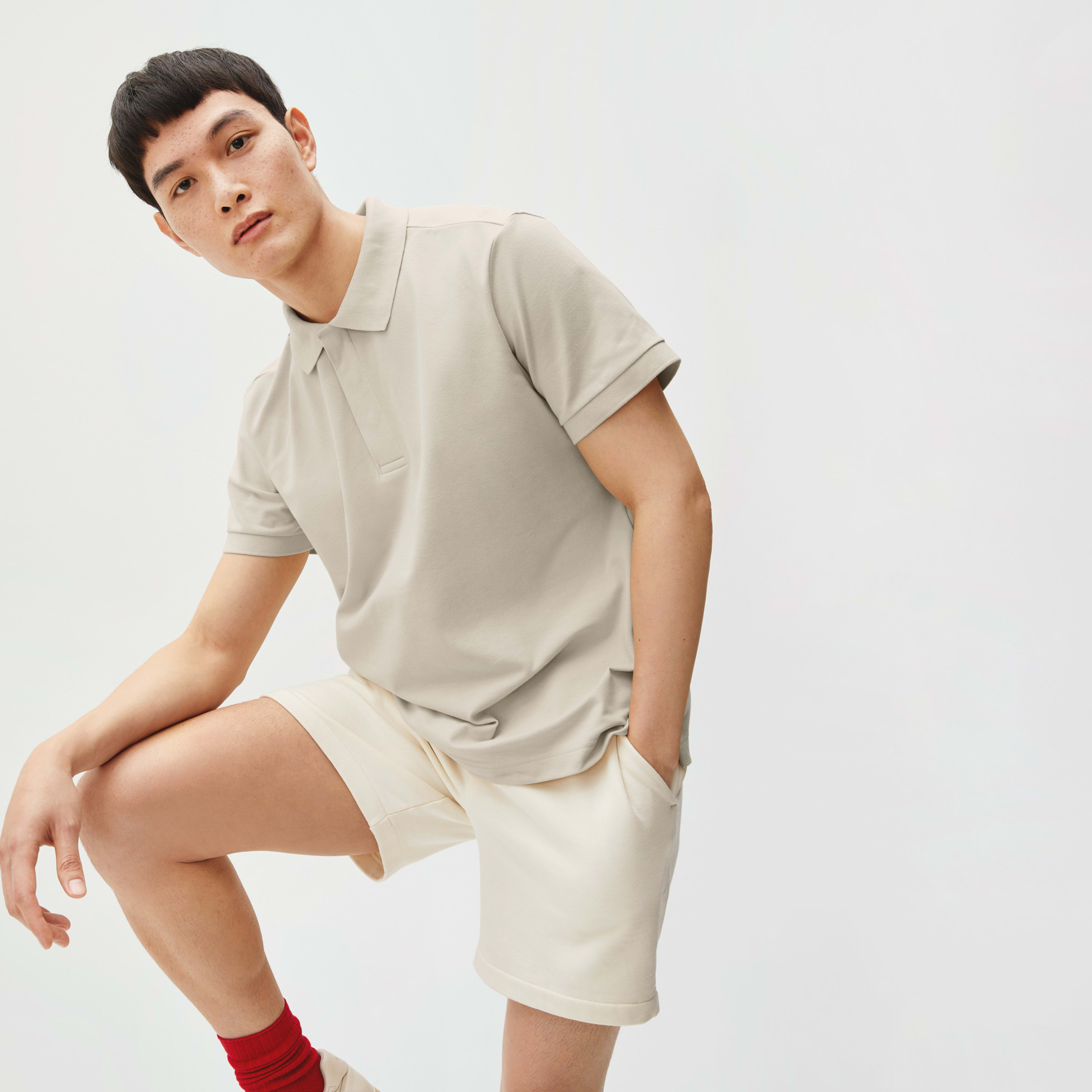 Men's Performance Polo T-Shirt By Everlane In Pale Khaki, Size Xs