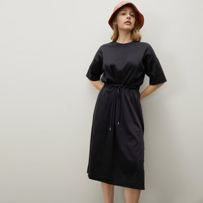 The Luxe Cotton Tie-Front Tee Dress | Everlane