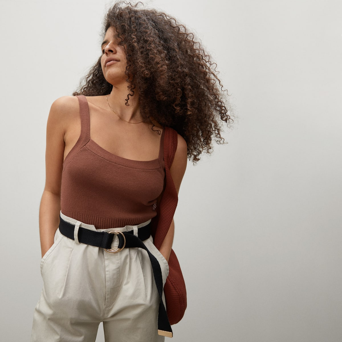 The Cropped Sweater Cami | Everlane