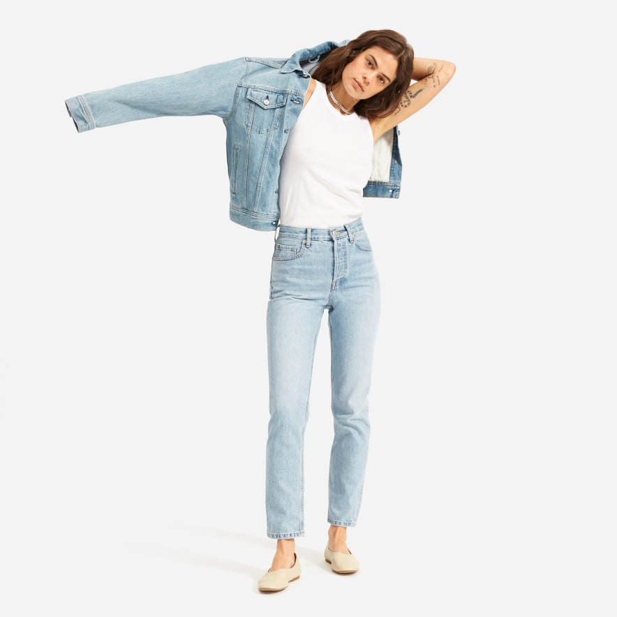 Everlane 90's Cheeky Jean in Vintage Sunbleached Blue