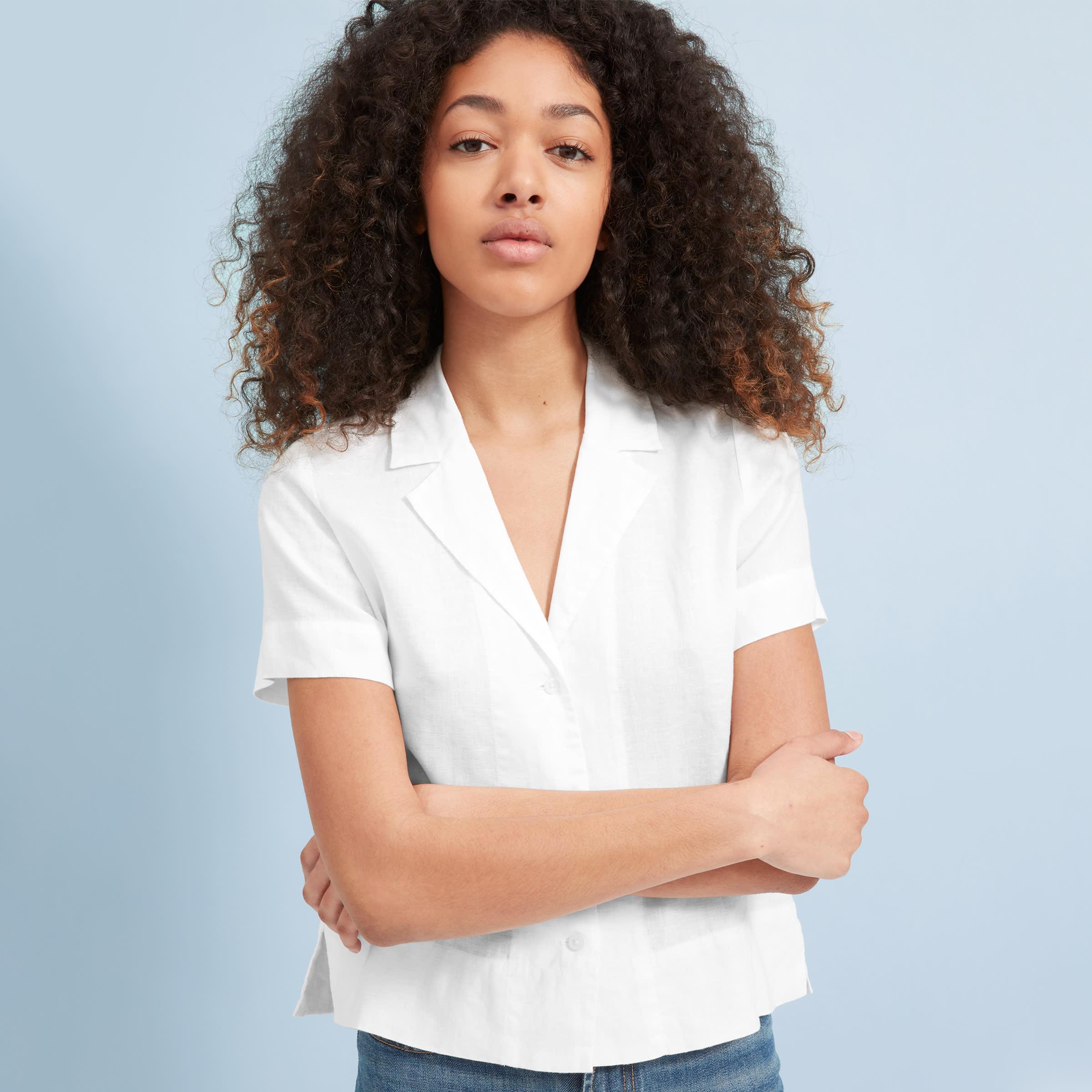 The Linen Short-Sleeve Notch Shirt   Everlane