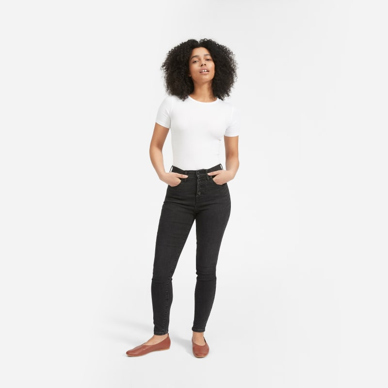 Authentic Stretch High-Rise Skinny Button Fly   Everlane