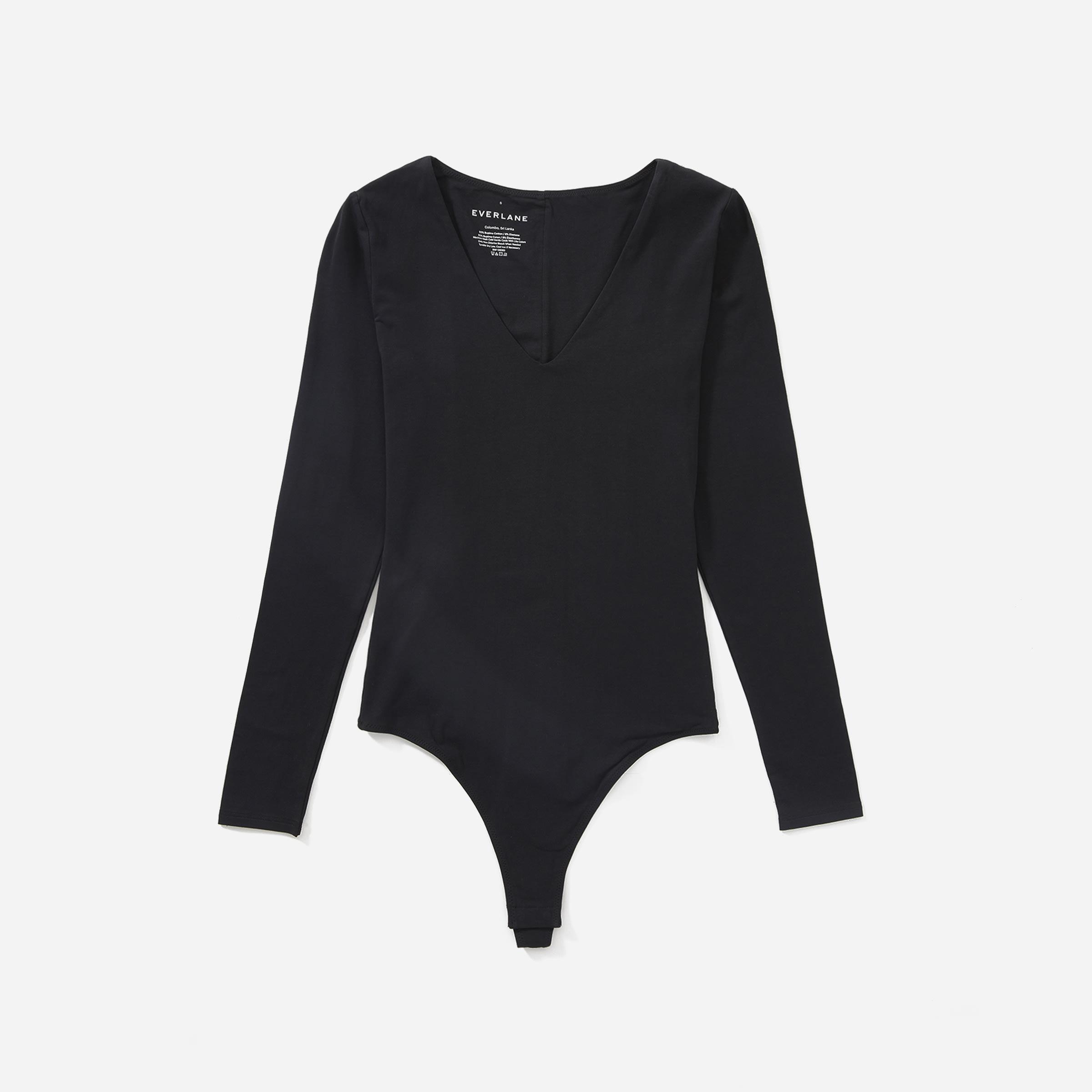 The Long-Sleeve V-Neck Bodysuit | Everlane