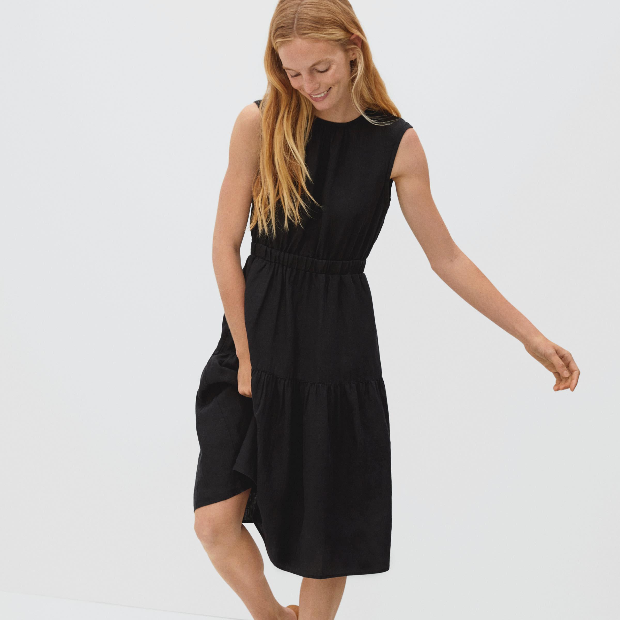 The Linen Open-Back Dress | Everlane