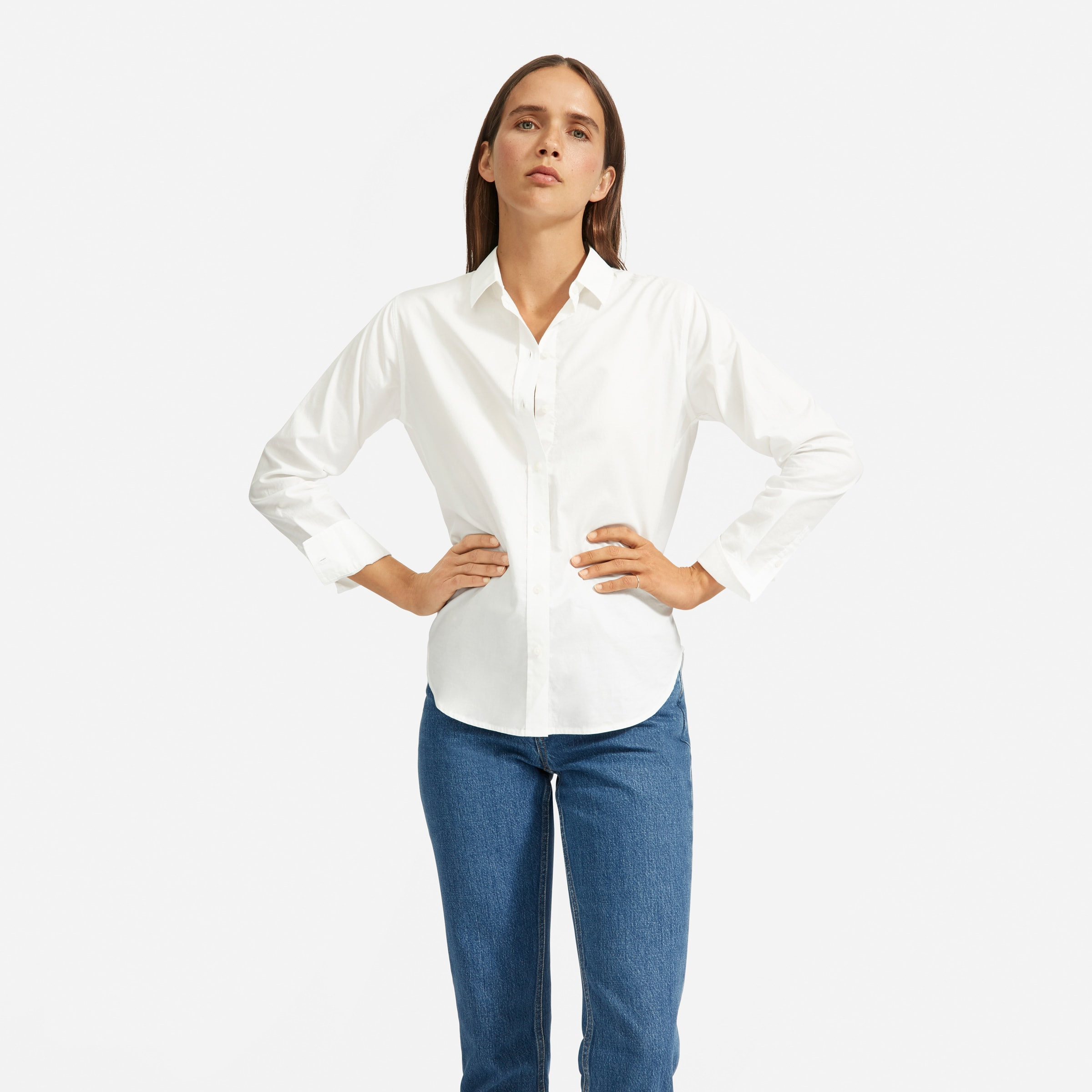 The Silky Cotton Relaxed Shirt   Everlane