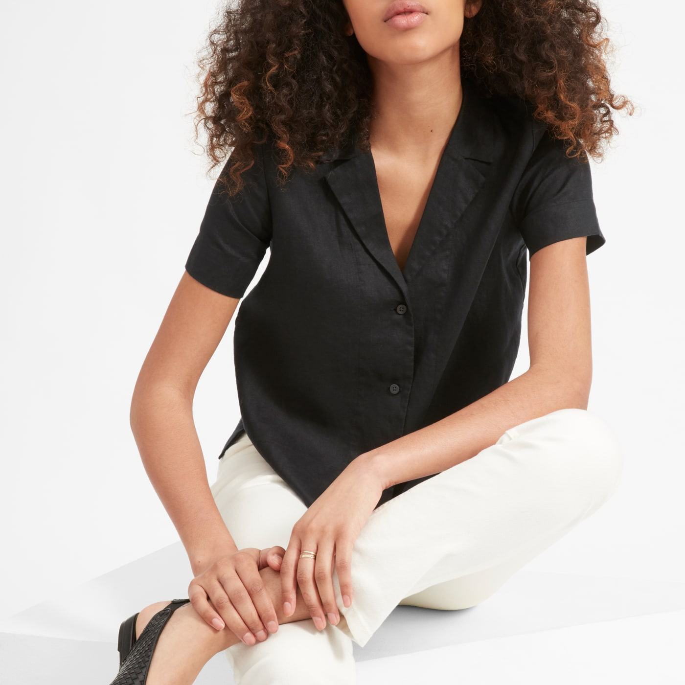 The Linen Short-Sleeve Notch Shirt | Everlane
